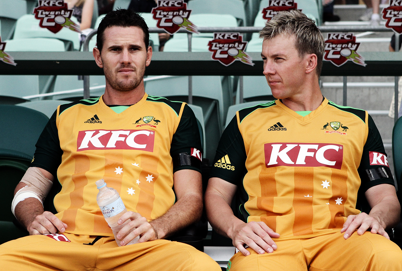 Bone crushers: Australia were lucky to have Shaun Tait and Brett Lee play in the same period, although they only featured in 19 internationals together - three Tests, 13 ODIs, and three T20Is