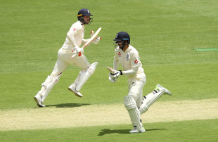Mark Stoneman and James Vince take a run