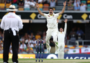 Pat Cummins roars in appeal for an lbw against Joe Root, Australia v England, 1st Test, The Ashes 2017-18, 1st day, Brisbane, November 23, 2017