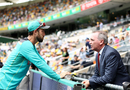 Glenn Maxwell speaks with Australia's chairman of selectors Trevor Hohns, Australia v England, 1st Test, The Ashes 2017-18, 1st day, Brisbane, November 23, 2017