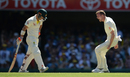 Jake Ball roars in delight after dismissing David Warner, Australia v England, The Ashes 2017-18, 1st Test, Brisbane, 2nd day, November 24, 2017