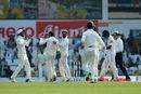 Virat Kohli chirps away as Niroshan Dickwella falls, India v Sri Lanka, 2nd Test, Nagpur, 1st day, November 24, 2017
