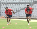 Prithvi Shaw and Shreyas Iyer practice ahead of their match against Tripura, Mumbai, November 24, 2017