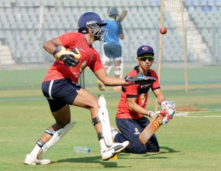 Siddhesh Lad and Aditya Tare in action during practice