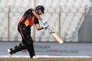 Rilee Rossouw connects with his drive, Khulna Titans v Rangpur Riders, BPL 2017, Chittagong, November 24, 2017