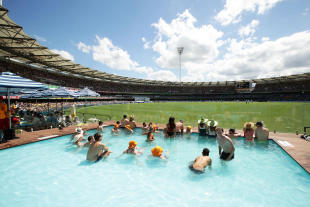 It begins as just another day on the Gabba pool deck