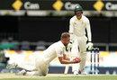 Stuart Broad grabbed a return catch to remove Mitchell Starc, Australia v England, 1st Test, Brisbane, 3rd day, November 25, 2017