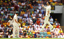 James Anderson celebrates the wicket of Tim Paine, Australia v England, 1st Test, Brisbane, 3rd day, November 25, 2017