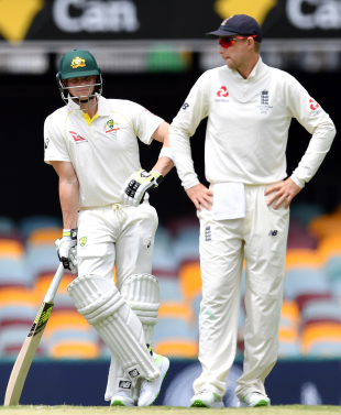 Steven Smith and Joe Root indulge in some reflection