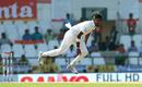 Suranga Lakmal in his follow through, India v Sri Lanka, 2nd Test, Nagpur, 2nd day, November 24, 2017