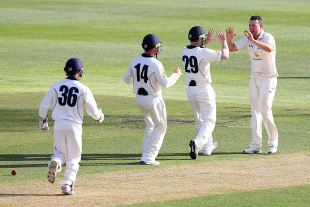 Jon Holland picked up three wickets on the second day