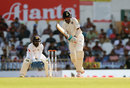 Cheteshwar Pujara drives down the ground, India v Sri Lanka, 2nd Test, Nagpur, 2nd day, November 25, 2017