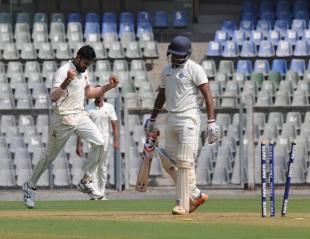 Akash Parkar took his maiden first-class five-wicket haul