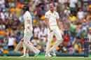 The key moment? Josh Hazlewood nipped out Joe Root before lunch, Australia v England, 1st Test, Brisbane, 4th day, November 26, 2017