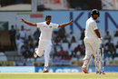 Dasun Shanaka celebrates after dismissing Cheteshwar Pujara, India v Sri Lanka, 2nd Test, Nagpur, 3rd day, November 26, 2017