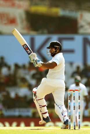 Rohit Sharma plays a pull shot