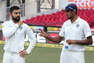 Virat Kohli and R Ashwin have a chat ahead of the presentation ceremony