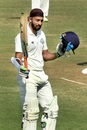 Faiz Fazal celebrates his double hundred, Vidarbha v Himachal, Ranji Trophy 2017-18, day 3, Nagpur, November 27, 2017