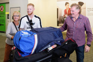 Ben Stokes meets his parents at Christchurch airport
