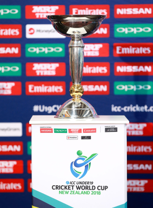 The Under-19 World Cup Trophy was on display at the launch of the 2018 edition