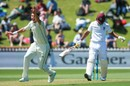 Trent Boult goes up in appeal for the wicket of Kieran Powell, New Zealand v West Indies, 1st Test, Wellington, 1st day, December 1, 2017