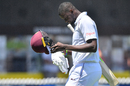 Jason Holder cut a dejected figure having been bowled for a first-ball duck, New Zealand v West Indies, 1st Test, Wellington, 1st day, December 1, 2017