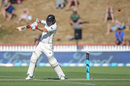Tom Latham gets on top of a short ball, New Zealand v West Indies, 1st Test, Wellington, 1st day, December 1, 2017
