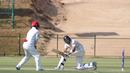 Ahmed Raza top edges a sweep toward short fine leg to fall for 28, UAE v Afghanistan, 2015-17 Intercontinental Cup, 3rd day, Abu Dhabi, December 1, 2017