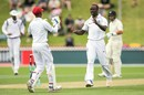 Kemar Roach dismissed Jeet Raval for 42, New Zealand v West Indies, 1st Test, Wellington, 2nd day, December 2, 2017
