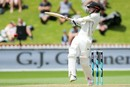 Eyes not quite on the ball: Henry Nicholls swats a pull, New Zealand v West Indies, 1st Test, Wellington, 2nd day, December 2, 2017