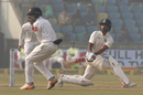 Shikhar Dhawan lobbed a catch with a miscued sweep, India v Sri Lanka, 3rd Test, Delhi, 1st day, December 2, 2017