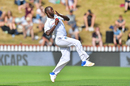 Kemar Roach took out three of the top-order batsmen, New Zealand v West Indies, 1st Test, Wellington, 2nd day, December 2, 2017