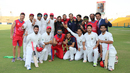 Afghanistan celebrate after winning the Intercontinental Cup for the second time, UAE v Afghanistan, 2015-17 Intercontinental Cup, 4th day, Abu Dhabi, December 2, 2017