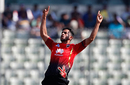 Hasan Ali strikes his trademark celebratory pose, Comilla Victorians v Rangpur Riders, BPL 2017-18, Dhaka, December 2, 2017