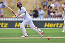 Kraigg Brathwaite takes off for a run, New Zealand v West Indies, 1st Test, Wellington, 3rd day, December 3, 2017