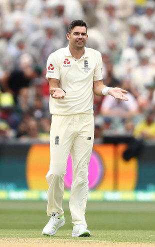 James Anderson twice had lbw decisions overturned