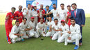 Afghanistan celebrate claiming the 2015-17 Intercontinental Cup title, UAE v Afghanistan, 2015-17 Intercontinental Cup, 4th day, Abu Dhabi, December 2, 2017