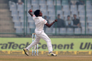 Lakshan Sandakan hits his delivery stride, India v Sri Lanka, 3rd Test, Delhi, 2nd day, December 3, 2017