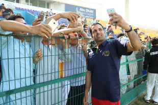Mohammad Nabi takes victory selfie with fans