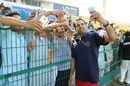 Mohammad Nabi takes victory selfie with fans, UAE v Afghanistan, 2015-17 Intercontinental Cup, 4th day, Abu Dhabi, December 2, 2017