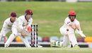 Jake Lehmann lunges to sweep, Queensland v South Australia, Sheffield Shield 2017-18, Cairns