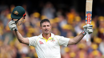 Shaun Marsh raised his fifth Test hundred