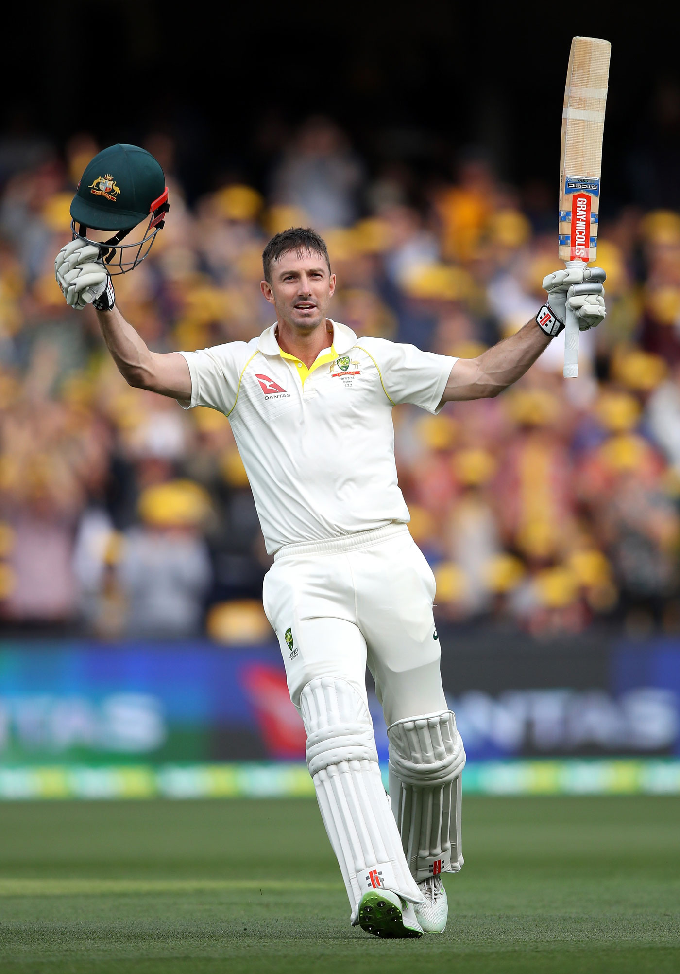 Marsh celebrates Ashes 100