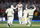 Mitchell Starc pinned Mark Stoneman lbw with a yorker, Australia v England, 2nd Test, The Ashes 2017-18, 2nd day, Adelaide, December 3, 2017