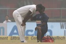 Lahiru Gamage struggled to cope with the conditions, India v Sri Lanka, 3rd Test, Delhi, 2nd day, December 3, 2017