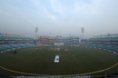 A view of the smog-enveloped Feroz Shah Kotla, India v Sri Lanka, 3rd Test, Delhi, 3rd day, December 4, 2017