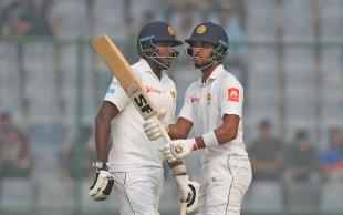 Dinesh Chandimal and Angelo Mathews put on a century stand