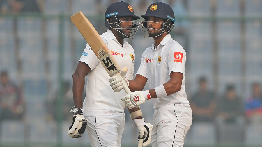 Dinesh Chandimal and Angelo Mathews put on a century stand