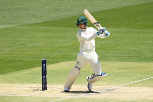 Peter Handscomb drives through the off side
