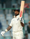 Shikhar Dhawan celebrates his half-century, India v Sri Lanka, 3rd Test, Delhi, 4th day, December 5, 2017